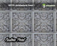 Architectural Tile (AP173) Ceiling Panel Custom Printed Hydrographics Film Hydrographic Big Brain Graphics