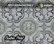 Architectural Tile 2 (AP175) Ceiling Panel Custom Printed Hydrographics Film Hydrographic Big Brain Graphics