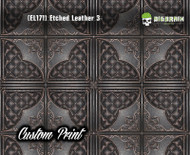 Tooled Leather Etched Leather 3 (EL171) Detailed Leather Panel Custom Printed Hydrographic Film Hydrographics Big Brain Graphics Trusted Seller
