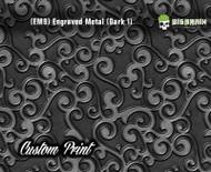 Etched Metal Dark 1 Custom Printed Design 3D Detail (EM9) Metal Hydrographics Print Dip Film Big Brain Graphics Brushed Bricks Metal