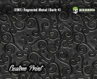 Etched Metal Dark 4 Custom Printed Design 3D Detail (EM1) Metal Hydrographics Print Dip Film Big Brain Graphics Brushed Bricks Metal