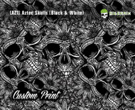 Aztec Skulls Skull Floral (AZ1) Indian Headdress Custom Printed Print Hydrographic Hydrographics Film Big Brain Graphics