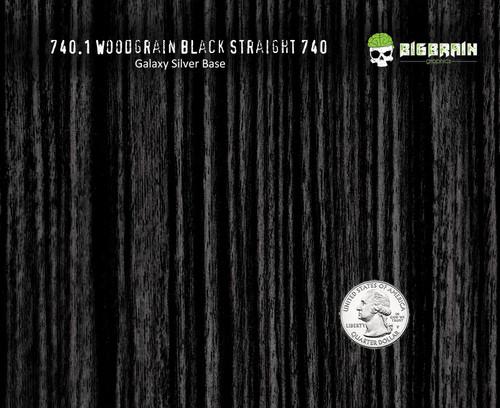 Black Straightgrain Woodgrain No Knots 740 Detailed Hydrographics Pattern Big Brain Graphics Car Interior Bulk Pricing USA Seller Galaxy Silver Base Quarter Reference