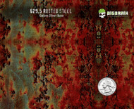 Rusted Rusty Metal Steel Hydrographics Realistic Pattern Dip Film Big Brain Graphics Trusted USA Seller Galaxy Silver Base Quarter Reference
