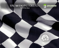 Waving Checkered Flag Racing Races Big Brain Graphics Hydrographic Hydrographics Pattern Film Dip Pattern Trusted USA Seller White Base Quarter Reference