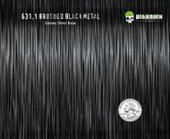 Brushed Black Metal Brushed Aluminum Hydrographics Hydrographic Film Dip Pattern Big Brain Graphics USA Seller Galaxy Silver Base Quarter Base