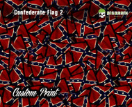 Confederate Flag Distressed Flag Hydrographics Hydrographic Dip Film Big Brain Graphics Custom Film Print Buy Film