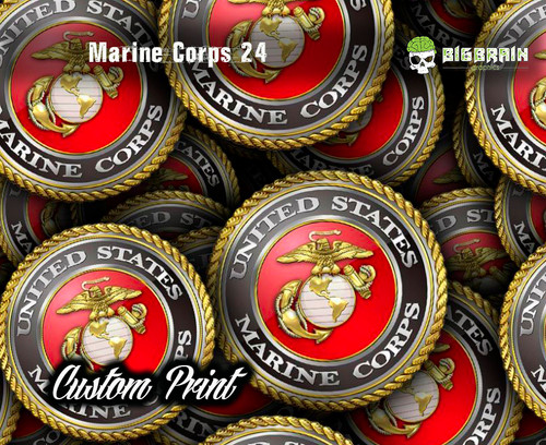 Marine Corps 24 Emblem Medallion Logo Big Brain Graphics Hydrographic Film Dip Hydrographics Buy Supplies