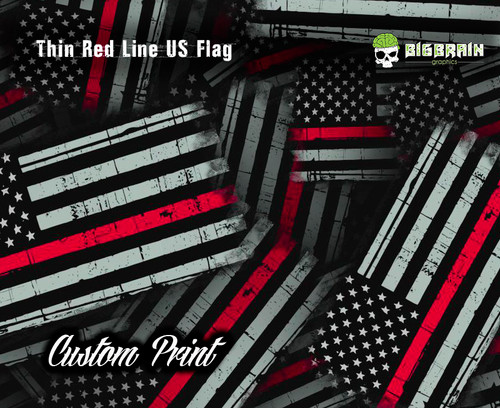 Thin Red Line Distressed Flag Support Firefighter Hydrographics Big