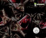 Rattlers Rattlesnake Reptile Snakeskin Snake Striking Animal Hydrographics Hydrographic Dip Film Pattern Big Brain Graphics Yeti White Base Quarter Reference
