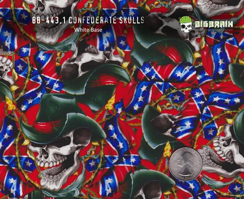 Confederate Flag Skulls Cowboy Barb Wire Big Brain Graphics Hydrographics Film Buy