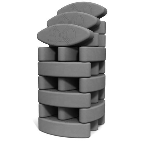 Ergonomic yoga block set Studio Starter Hard-Boiled by Three Minute Egg Ψ in color Slate Gray