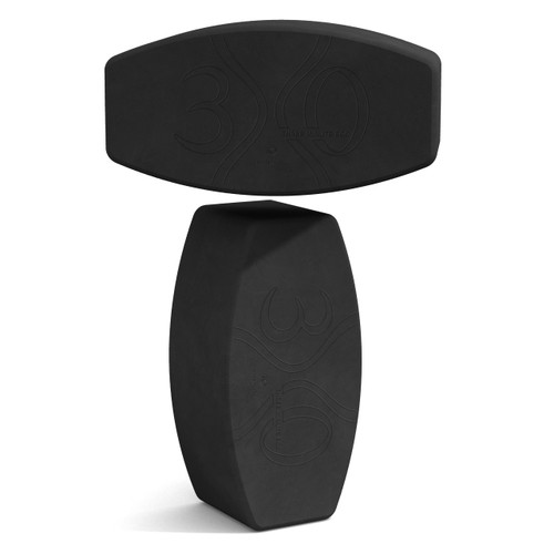 """NYOB (Not Your Ordinary Block!) by Three Minute Egg - 10"""" Yoga Block - 2-Pack - Charcoal"""