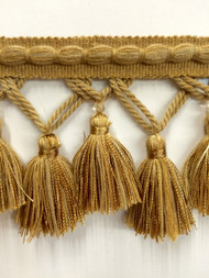 "3.5"" TASSEL FRINGE -56/12         ANTIQUE GOLD"