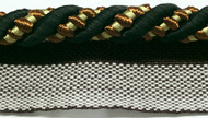 "3/8"" ROUND CORD EDGE WITH LIP-3/47-3-35      (Black/Beige & Rust)"