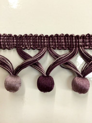 "2"" TASSEL FRINGE -59/29-27          PLUM & PURPLE"