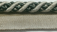 "3/8"" ROUND CORD EDGE WITH LIP-3/50-37-47       (Silver/Gray & Black)"