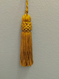 "3"" CHAINETTE KEY TASSEL-1/12           ANTIQUE GOLD"