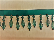 "1.5"" CRYSTAL BEADED FRINGE-3/38            (TEAL GREEN)"
