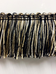 "1.75"" Brush Fringe Trim Extra  BRF-3/47-4  ( Black , Beige , Cream )"