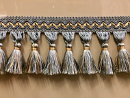 "3.5"" Tassel Fringe (French blue & beige) TF-5/41-3"