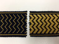 "2"" WOVEN EMBROIDERY REVERSIBLE TRIM TAPE H-71/128 BLACK AND GOLD"