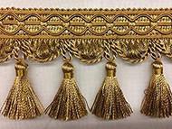 """4"""" TASSEL FRINGE-9/11-12        GOLD & ANTIQUE GOLD"""