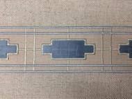 "2 1/2"" EMBROIDERY TAPE (BEIGE / LT. BLUE) H-1156B-5"