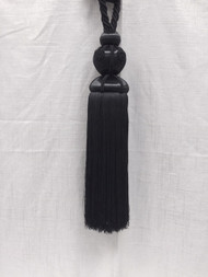 Elegant French 13 Inch Black Tassel Tieback (NOT made in china) Curtains / Drapery / Upholstery / Window Treatments SCTB-20/47