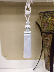 Elegant French 13 Inch White Tassel Tieback (NOT made in china) Curtains / Drapery / Upholstery / Window Treatments SCTB-20/1