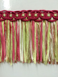 "4/"" Tassel Fringe Trim   TF-16//20-13-1 Hot Pink//Mint Grn /& White Sold by the yard"