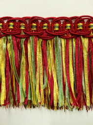 "4.5"" TASSEL FRINGE -17/31-17-11     DARK RED,LODEN GREEN & GOLD"