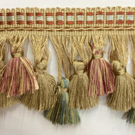 "3.5"" TASSEL FRINGE -42/2-41-13         CREAM,COPEN BLUE & MINT GREEN"