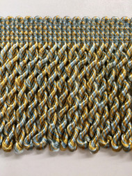 "2.5"" BULLION FRINGE-1/38-11        LIGHT BLUE & GOLD"