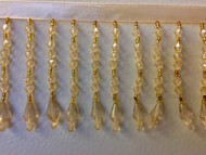 "3"" CRYSTAL BEADED FRINGE-20/2        CREAM"
