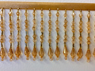 "3"" CRYSTAL BEADED FRINGE-20/11 DARK  GOLD"