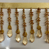 "3"" CRYSTAL BEADED FRINGE-19/11         GOLD"
