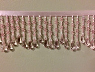 "3"" CRYSTAL BEADED FRINGE-19/18        LIGHT PINK"