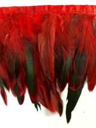 "7"" FEATHER GRINGE-7/51-30       RED,GREEN & BLACK"