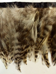 "5"" FEATHER FRINGE-1/2         LIGHT BROWN,WHITE, BEIGE DARK BROWN"