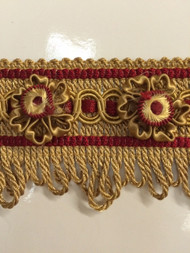 "2.25"" HEADER 26/12-33       Gold & Cranberry"