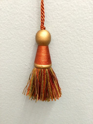 "3"" KEY TASSEL-12/35-12-17        RUST,GOLD & LODEN GREEN"