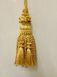 """8"""" BULLION KEY TASSEL-1/10-11           YELLOWISH GOLD"""