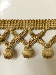 """2"""" TASSEL FRINGE -59/12        ANTIQUE GOLD"""