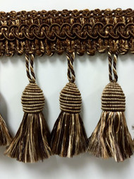 "3"" TASSEL FRINGE-53/7-8            BIEGE & BROWN"