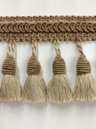 TASSEL FRINGE -53-L/6            LIGHT TAN