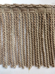 "6"" LINEN BULLION FRINGE-6-L/6    NATURAL TAN"