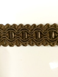 "5/8"" GIMP HEADER-8/8           CHOCOLATE BROWN"