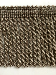 "2.5"" LINEN BULLION FRINGE-1-L/2-8      WHITE & BROWN"