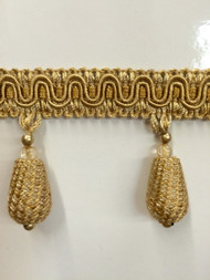 "2"" TASSEL FRINGE -54/12       ANTIQUE GOLD"